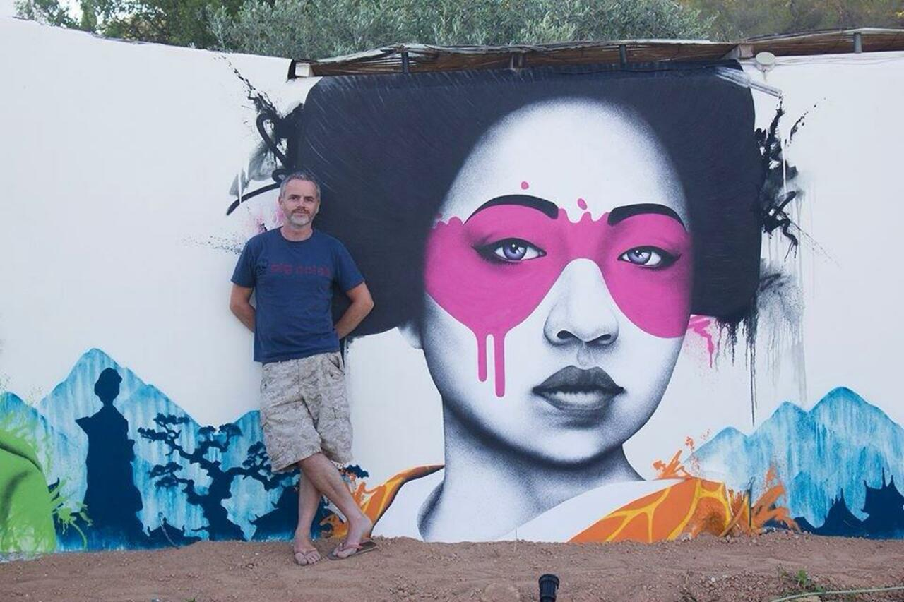 Artist @findac beautiful new Geisha Street Art pieces located in Ibiza #art #graffiti #mural #streetart https://t.co/uCvE6smUXB