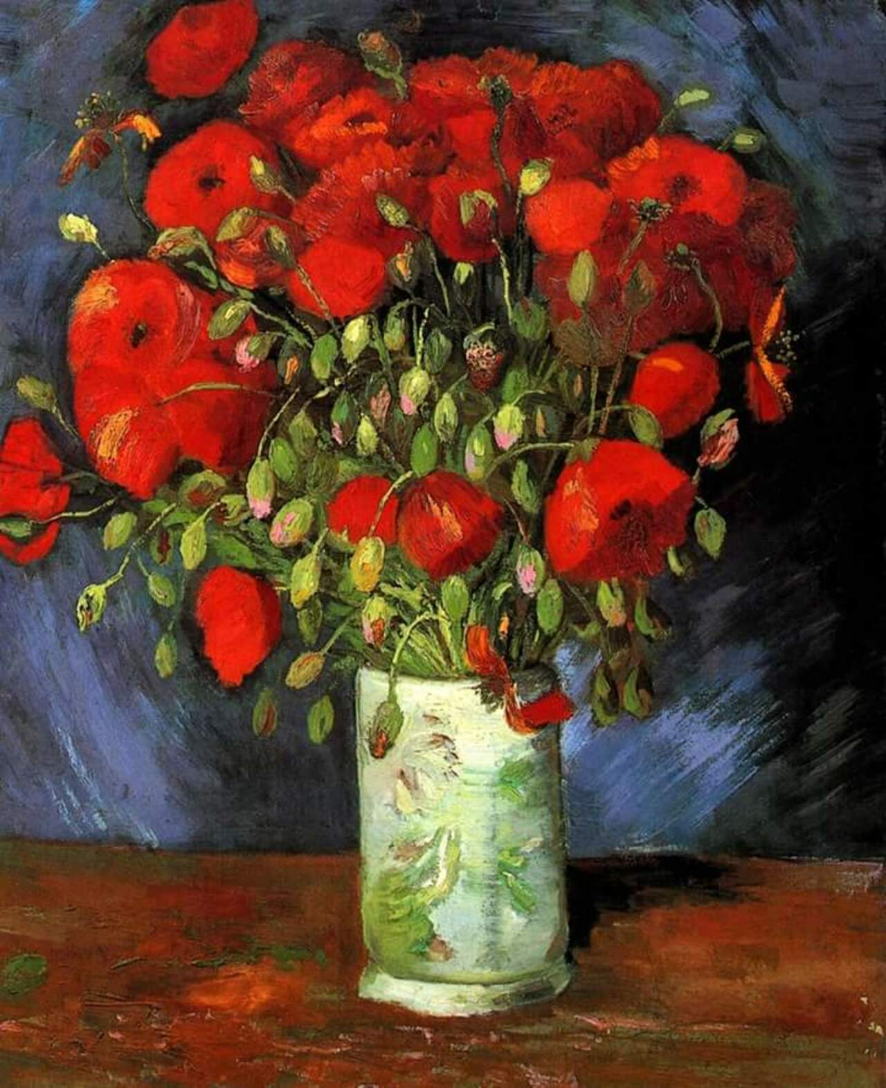RT @xabier2013: Vase with red poppies. #VanGogh #arte #art #pittura #painting https://t.co/k3vwN4elmR