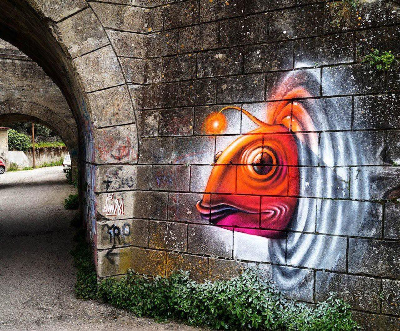 Cosmic fish from outer world. Discover more #streetart pieces: http://bit.ly/CosmicFish #graffiti https://t.co/JaBF8EKnhJ