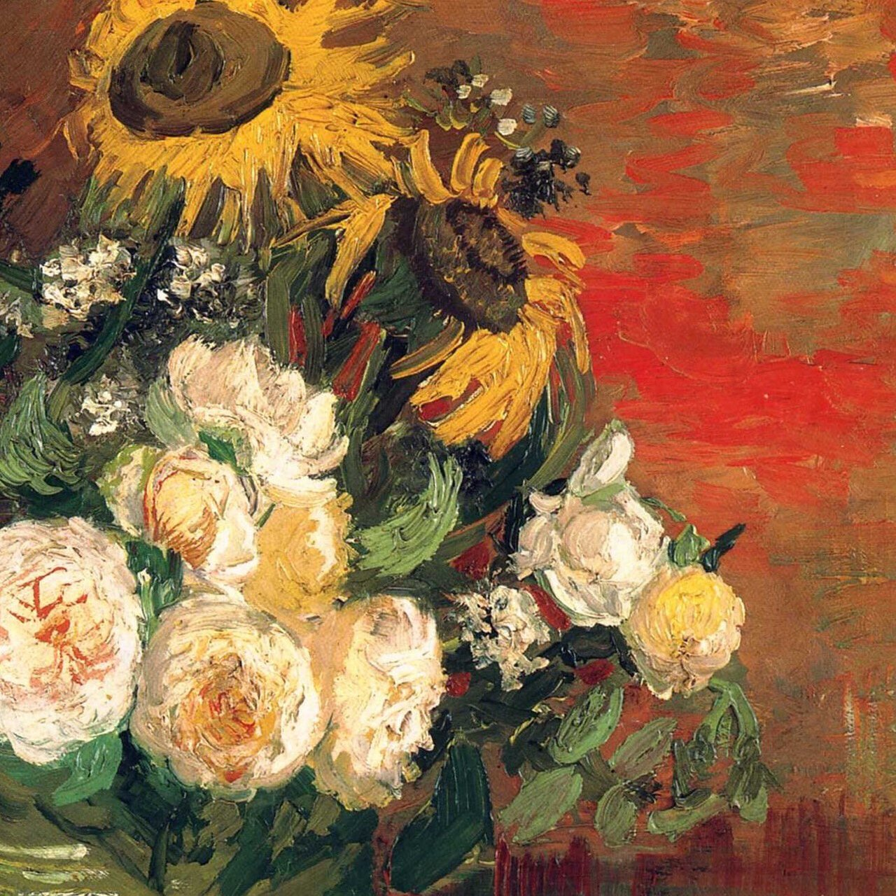 Still Life with Roses and Sunflowers, 1886. #vangogh #art #arthistory https://t.co/JdK8guqwJk