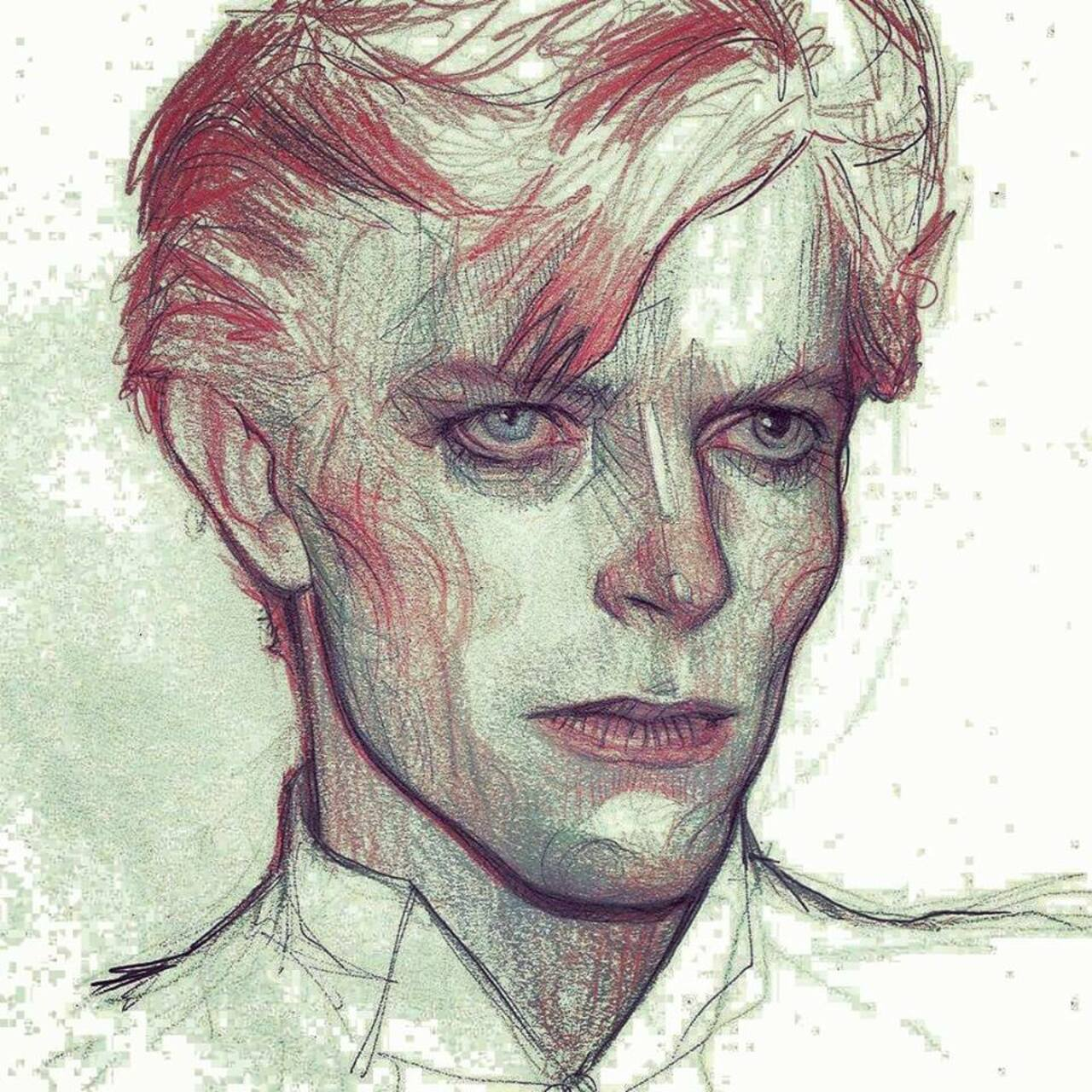 The Man Who Fell To Earth #DavidBowie #art #sketching by @subversivegirl https://t.co/GhV88PTCHT