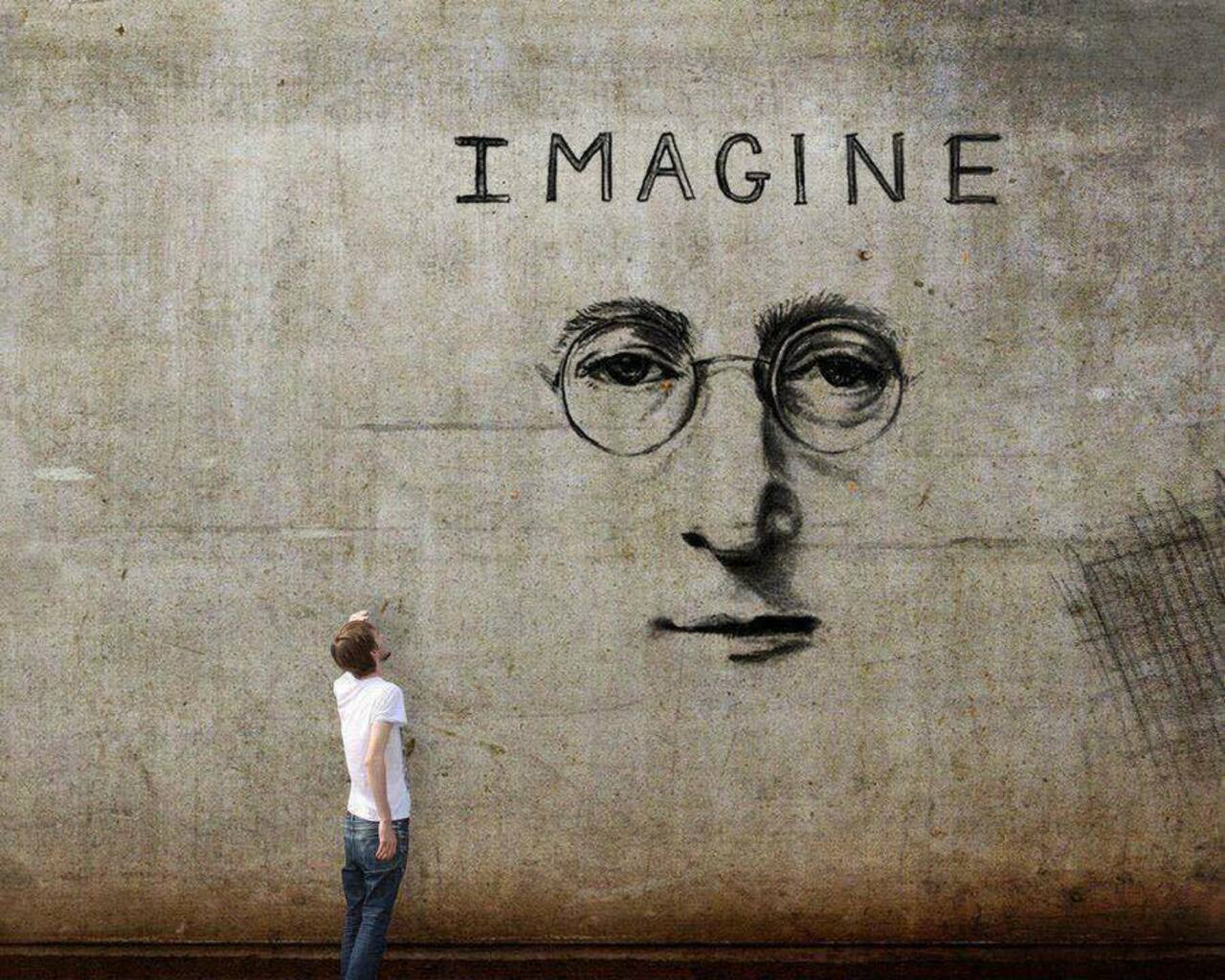 Imagine #JohnLennon – #Creative #Streetart – Be ▲rtist – Be ▲rt Magazine http://crwd.fr/2jJGmqX https://t.co/KJ38Ek9Vld