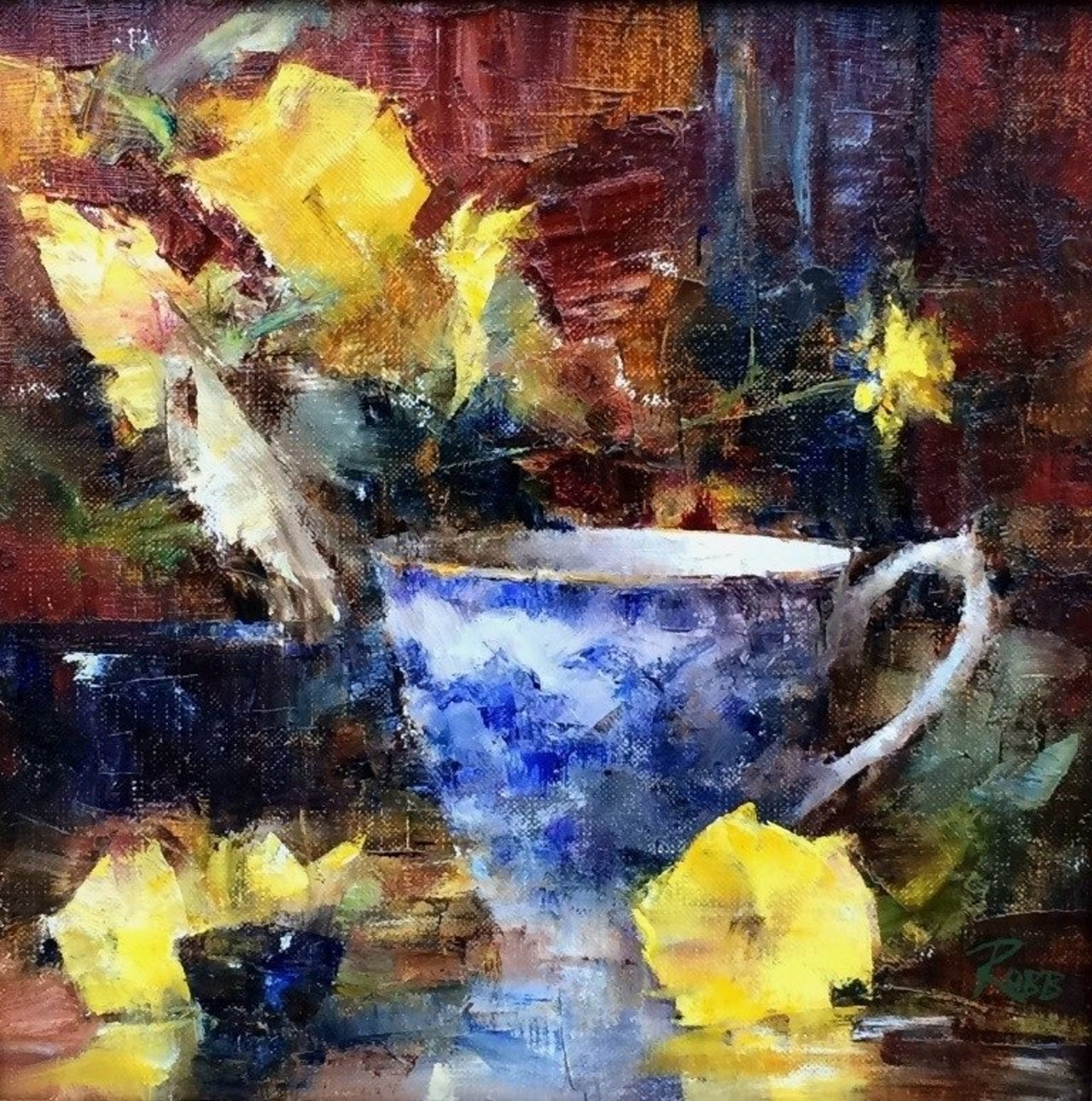 'Yellow Pansies & Tea Cup' by Laura Robb #art https://t.co/lQfcEfnx4r