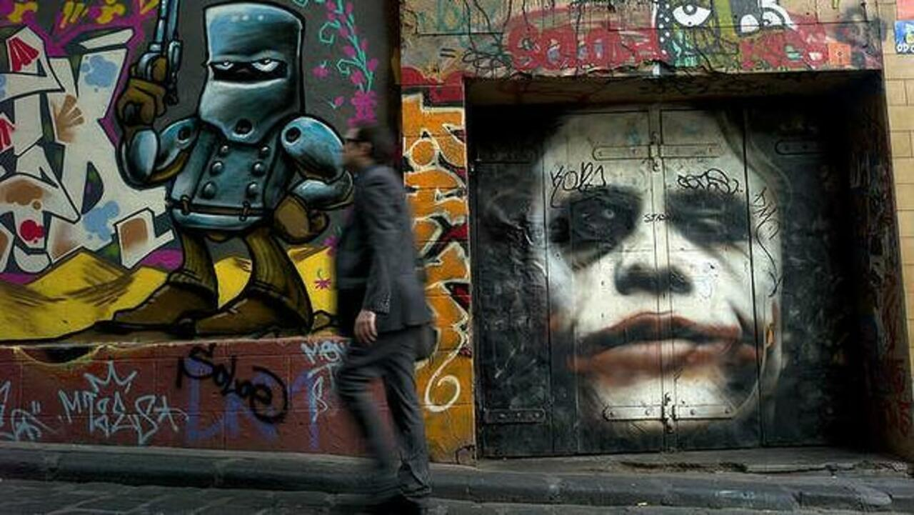 Joker In Melbourne Streetart Graffiti Art Joker Batman Funky