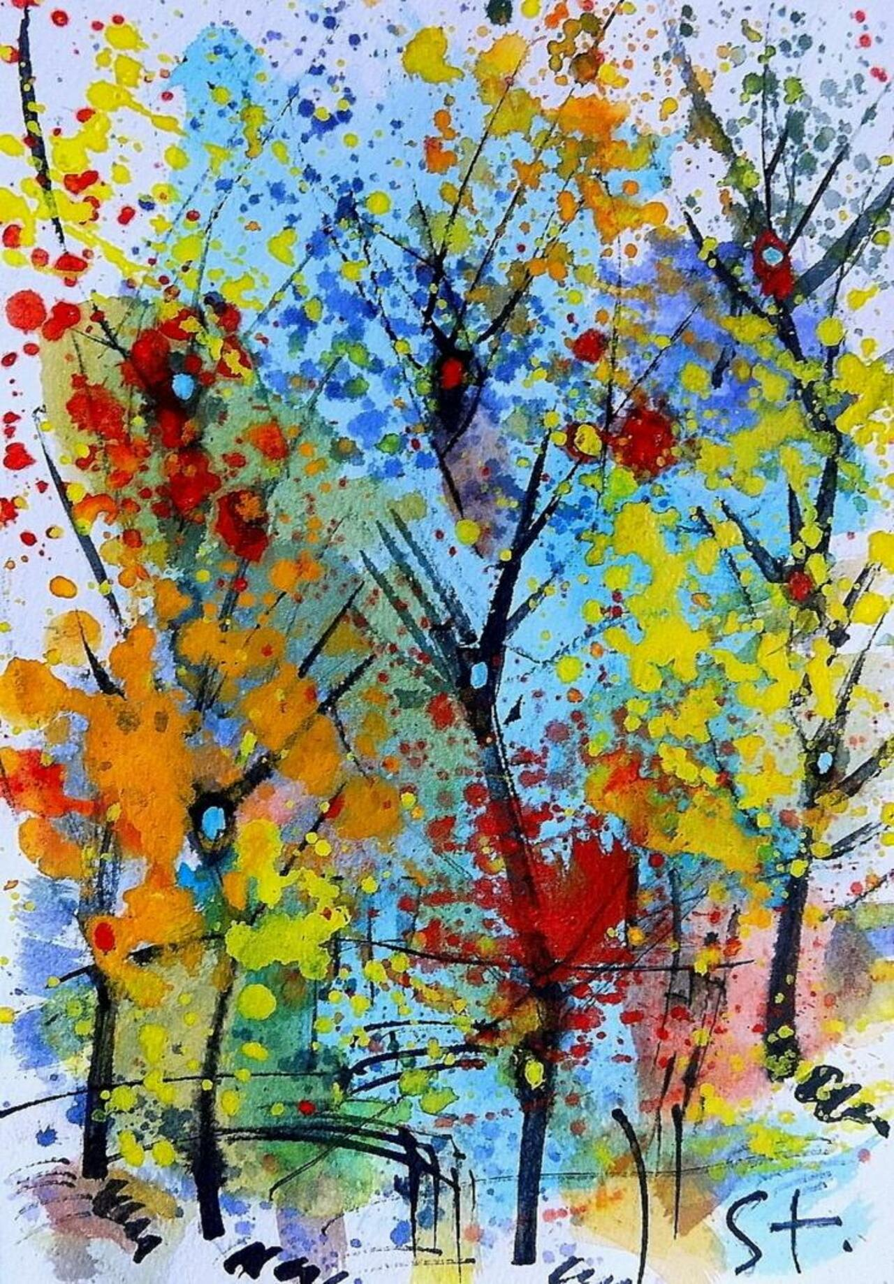 Landscaping-LXXX by Stanislav Bojankov #watercolor #painting #art http://artf.in/1FHijxL @artfinder http://t.co/FR56kmRrCm