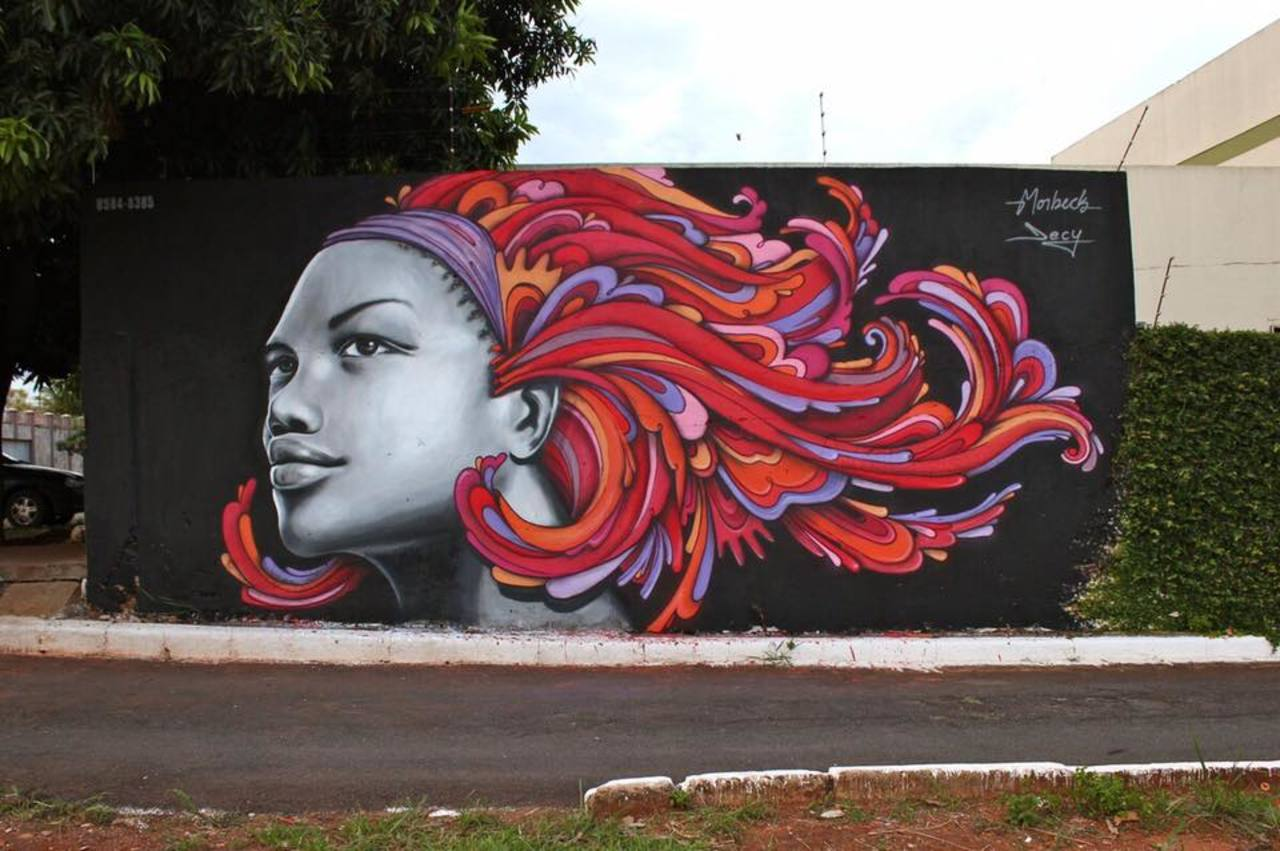 ... like a beautiful lady... in colors. Art by Morbech and Decy in Goiânia, Brazil #StreetArt #Art #Lady #Colors #Graffiti #Mural #UrbanArt #Goiania https://t.co/pR4SwswTCN