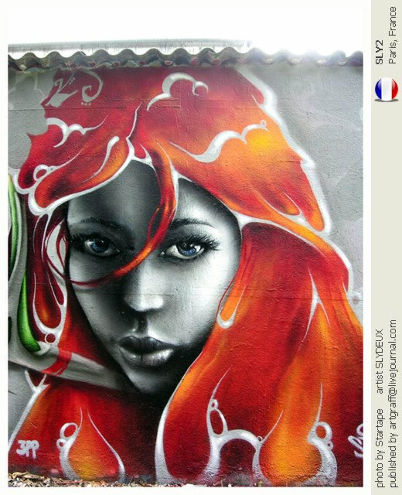 ... like a beautiful lady... in red. Art by Sly2 #StreetArt #Art #Beauty #Red #Graffiti #Mural #UrbanArt #Paris https://t.co/lX3YOWMxSj