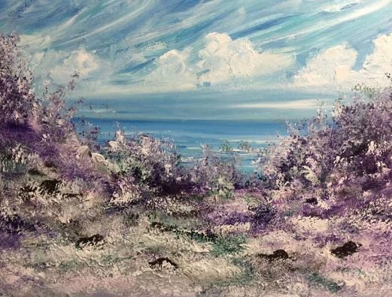 'At Peace' by Joanna DeRitis #art https://t.co/U0W8QckgIH
