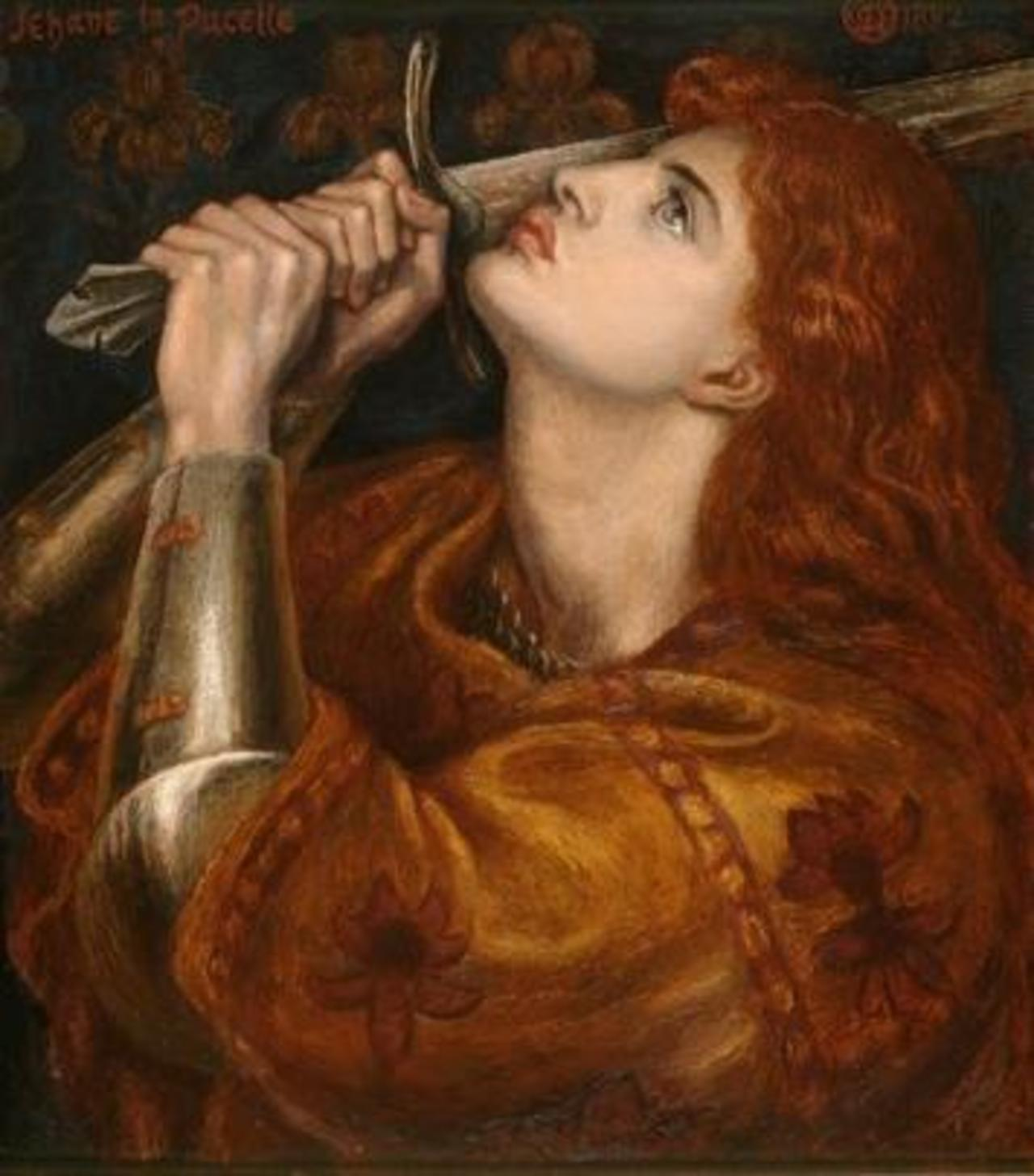 This painting of Joan of Arc was found on Rossetti's easel upon his death in 1882: http://bit.ly/1Ao24VK #art http://t.co/kYxsVjfAer